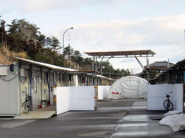 ミーティングで活用したテント(写真:南三陸町)