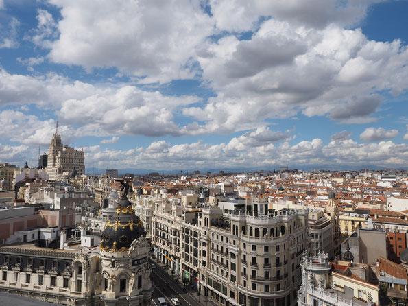 Ausblick von der 'Rooftop-Bar' des 'Circulo des Bellas Artes'