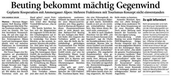 Murnauer Tagblatt vom 16.01.2015