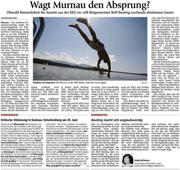 Wagt Murnau den Absprung?