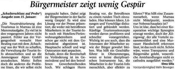 Murnauer Tagblatt vom 02.02.2015