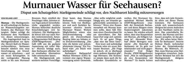 Murnauer Wasser für Seehausen