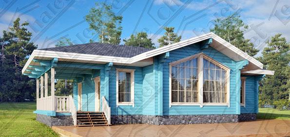 ле шале, строительство одноэтажное шале под ключ, ле шале 110, проект одноэтажного шале