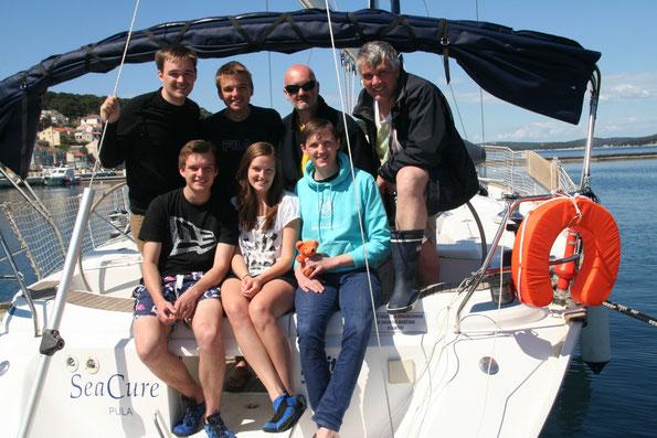 """Die beste Crew, die je auf der """"Sea Cure"""" segelte !!!"""
