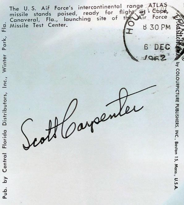 Autograph Scott Carpenter Autogramm