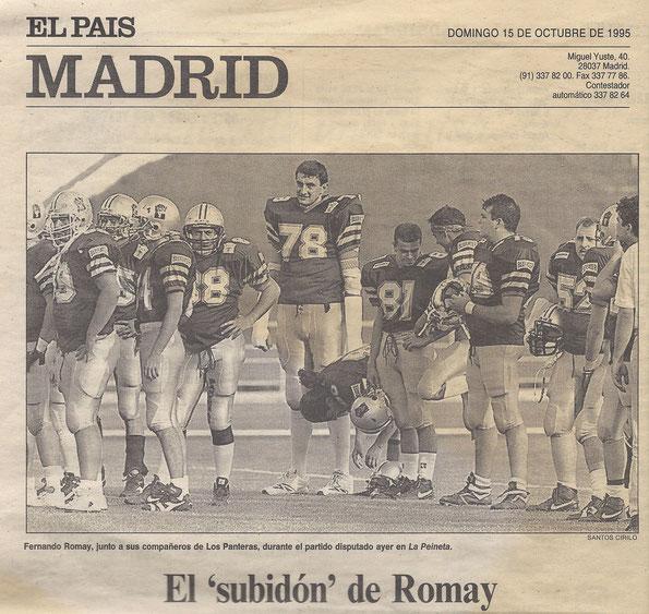 Romay en Madrid Panteras