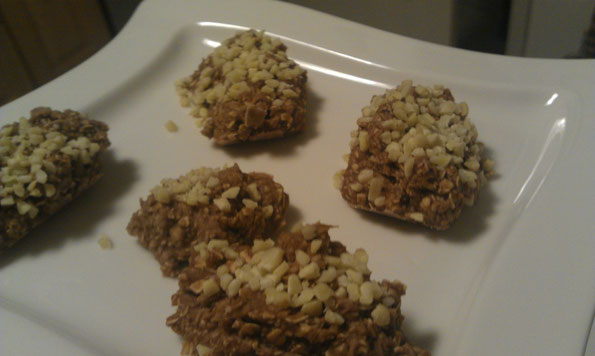 schoko-koks-erdnuss proteinriegel