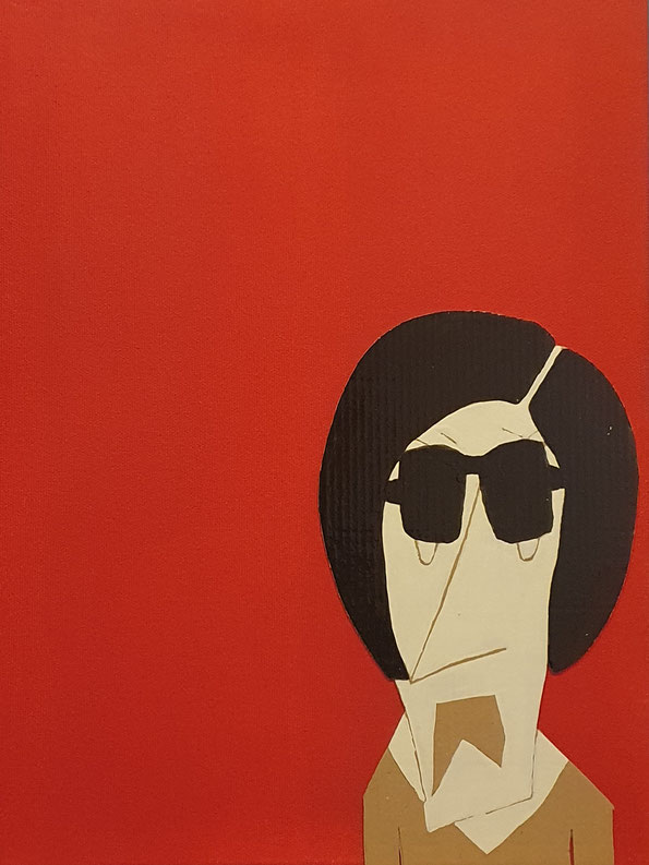 Cardboard Art Bild von einer Frau, Meme Karen