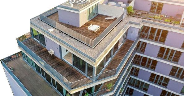 Immobilie zur aktuellen Wohnadresse von Kai Kupferschmidt wie abgebildet in einem öffentlich einsehbaren Kaufangebot einer Maklerfirma. Es ist nicht bekannt, welche Wohnung in diesem Gebäude Kupferschmidt bewohnt.