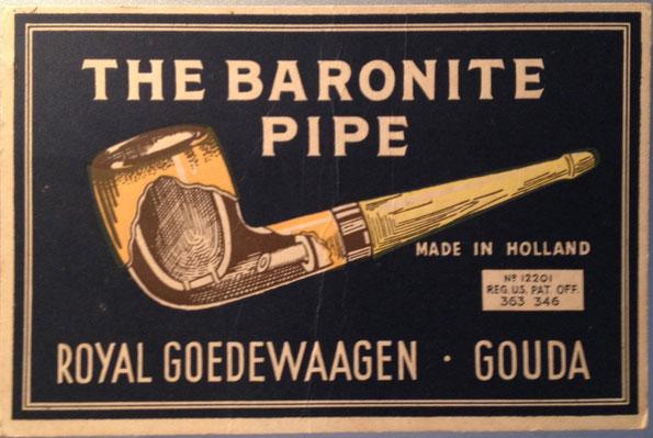 Reclame karton op standaard ca 1920-1940