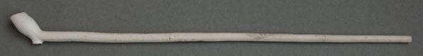 Nagenoeg complete pijp, 17e eeuw, CIB, gevonden in Rotterdam