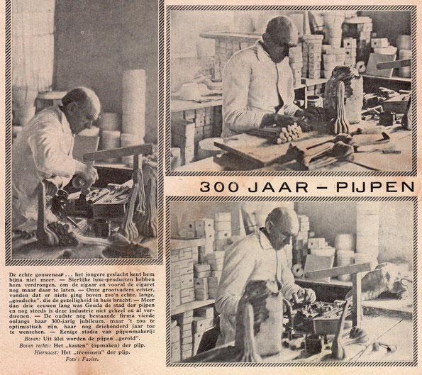 3 foto's en tekst De Prins 1930