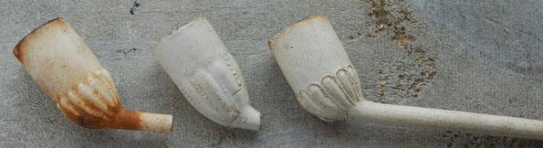 Een drietal van de voornaamste modellen. Gemaakt tussen ca 1740 en 1800.
