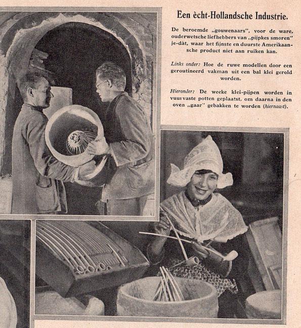 3 foto's en wat tekst uit De Prins, zomer 1930