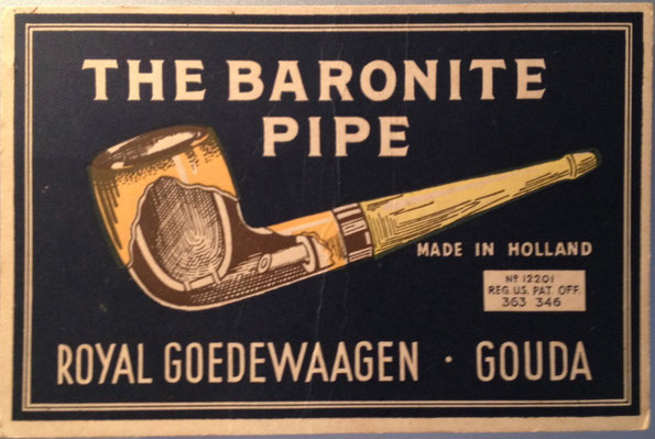 Reclame kartonnetje op standaard. Ca 1920-1940
