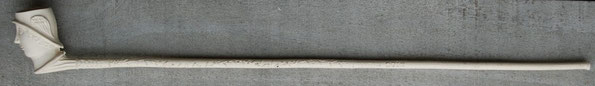 Op de steel M. van Duin, totale lengte ca 51 cm, hoogte kop 6 cm