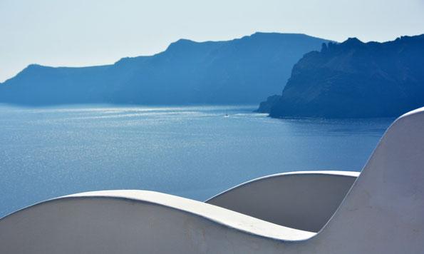 Meeresblick von der Insel Santorin, Griechenland