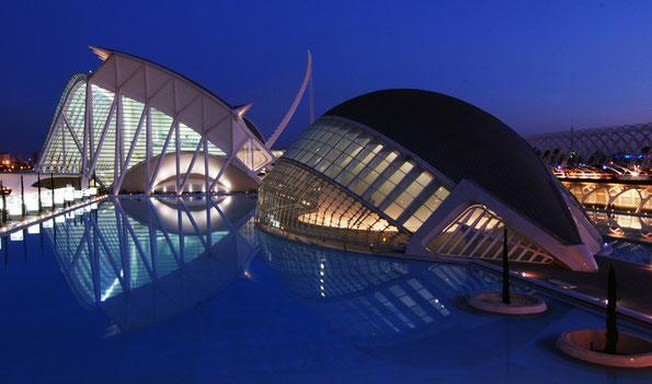 """Valencia, in der """"Stadt der Künste und Wissenschaften"""", Werk des Architekten Santiago Calatrava"""