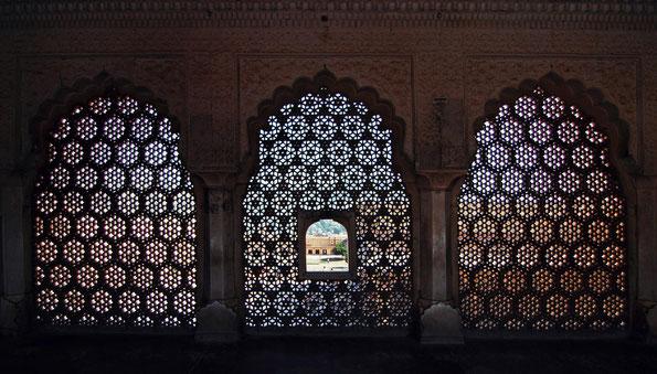 Aussicht aus einem Fort in Rajasthan