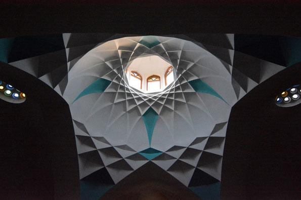 Himmelsblick, Deckengewölbe in Yazd, Iran