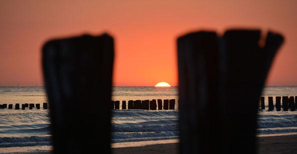 Sommerabend am Strand von Zoutelande, NL