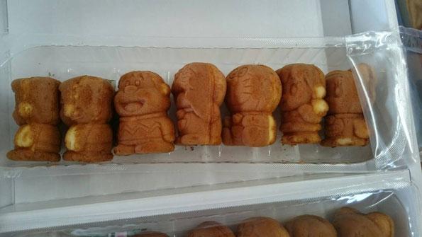 東京土産のドラえもん人形焼。何だか食べるのが申し訳ない、、、