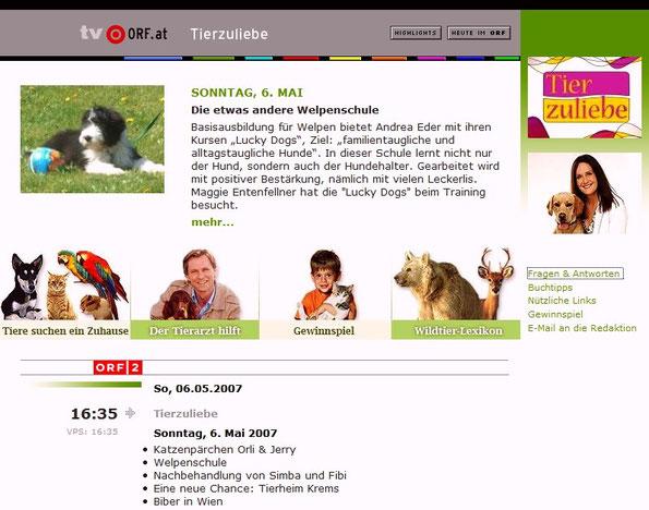 """Ein ORF Team war für die Sendung """"Tierzuliebe"""" zu Gast bei unserem LUCKY DOGS Welpenkurs ..."""