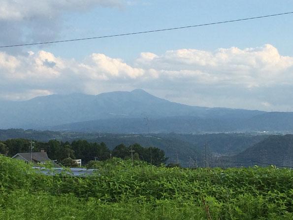 久しぶりに見えた、蓼科山