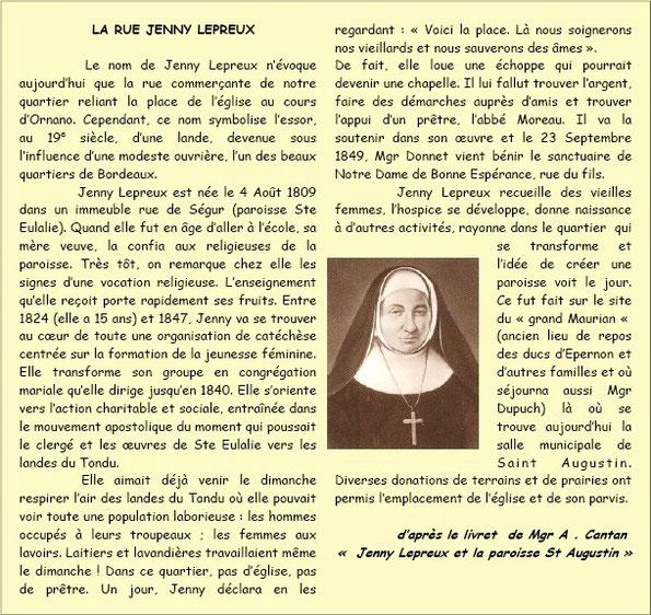 Rue Jenny Lepreux Bordeaux