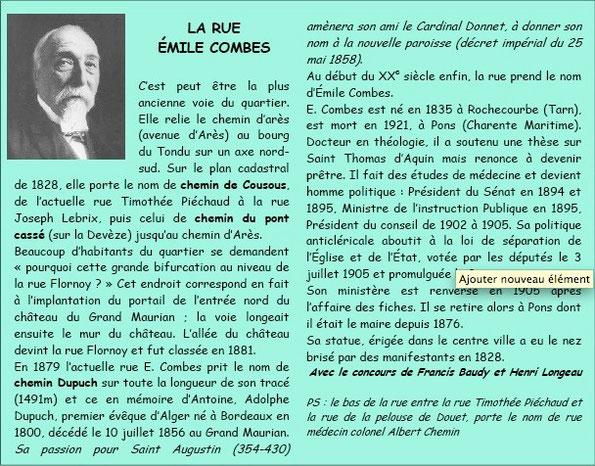 Rue Emile Combes Bordeaux