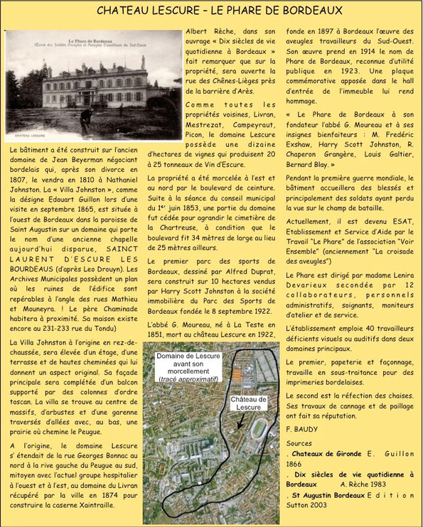 Chateau Lescure, le Phare de Bordeaux