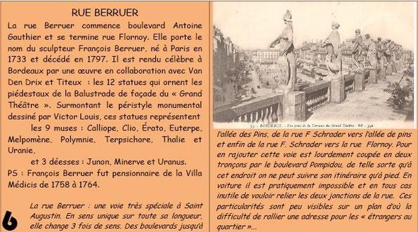 Rue Berruer à Bordeaux