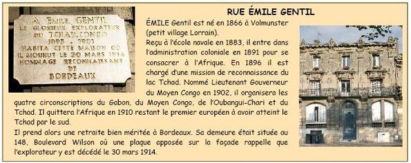 Rue Emile Gentil Bordeaux