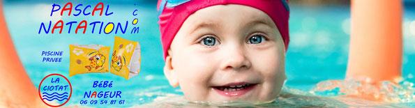 Bébé nageur à La Ciotat avec Pascal Natation en piscine privée