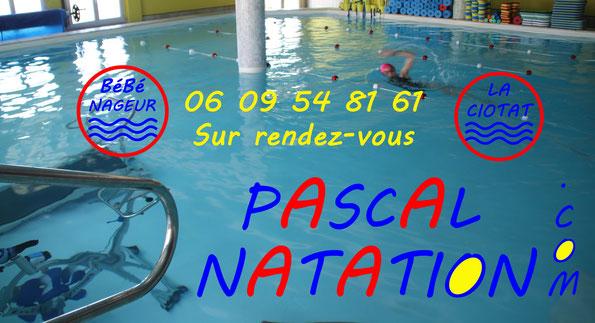 Piscine à La Ciotat avec Pascal Natation pour les cours de bébé nageur