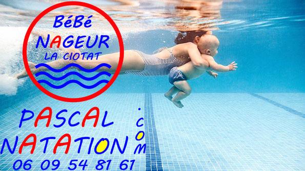 Cours de natation pour les bébés nageurs à La Ciotat Piscine Pascal Natation
