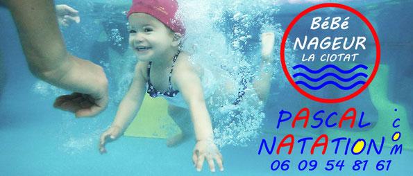 Bébé nageur à La Ciotat en Piscine privée avec Pascal Natation