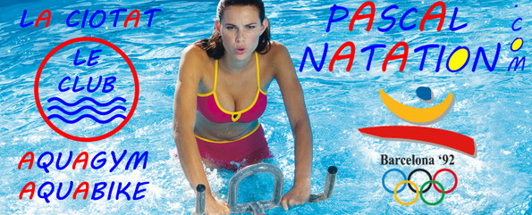 Le club d'Aquagym et d'Aquabike à La Ciotat dans la piscine privée de Pascal Natation