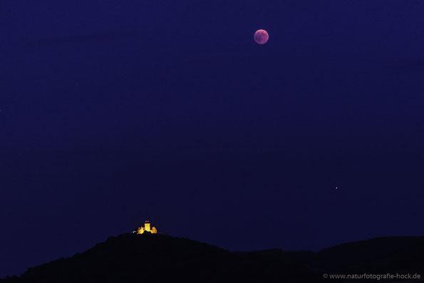 Konstellation mit Mars um 22.17 Uhr mit 80mm aufgenommen.