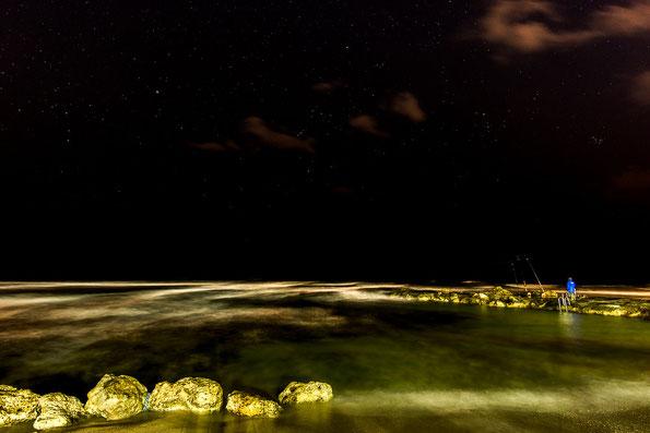 Nachtangler am Stran von Paphos