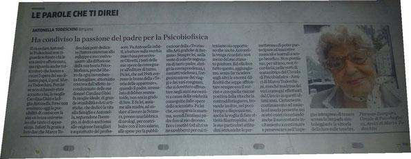 """Nostro articolo pubblicato su """"Eco di Bergamo"""" il 24/10/2015 (clicca sull'immagine per ingrandire)."""