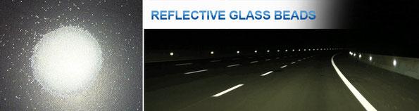 Reflektierende Glasperlen