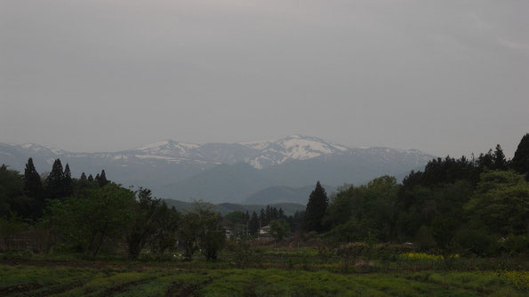 Mt. Kattadake, Mt. Kumanodake (Zao Peaks, from Kawasaki, Miyagi)