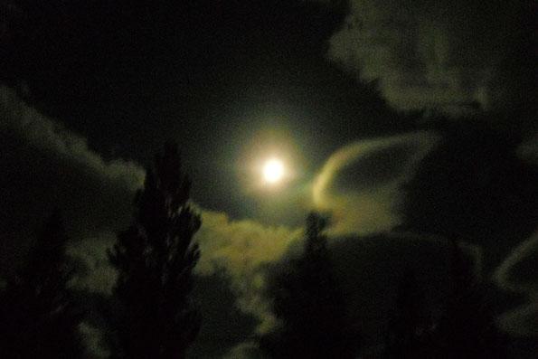 あるべろからの月明かり Moonlight toward office ALBERO