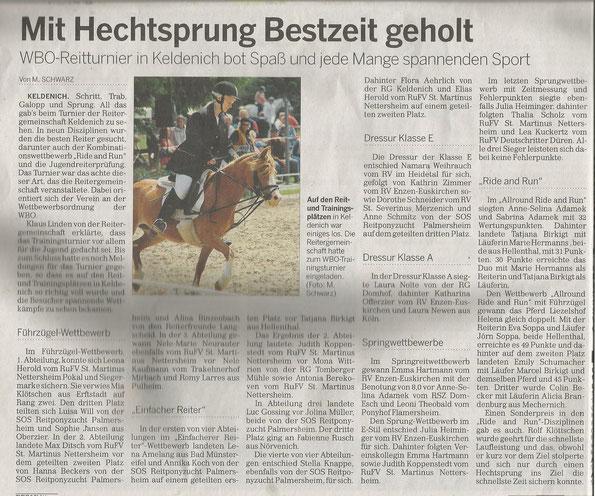 Zeitung: 05.06.2014 / Tatjana auf Ramonshof Tria