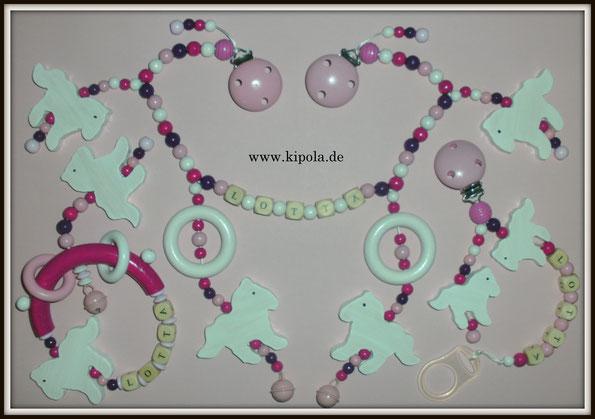 www.kipola.de   Schnullerkette, Kinderwagenkette & Greifling