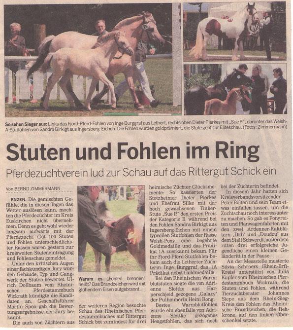 2008 Kölner Stadt Anzeiger / Bild re. unten: Welsh A Vikarien`s Juliska mit Ramonshof Tria