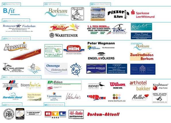 Das Borkum Open - 100 Jahre Bäderturnier Sponsorenbord