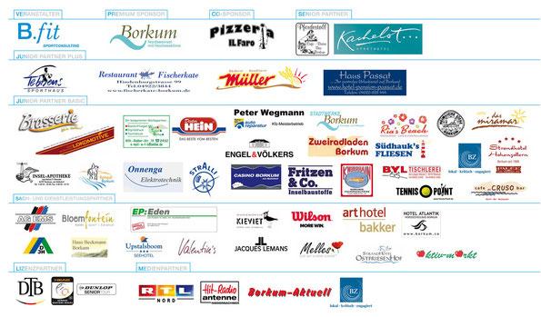 Das Borkum Open - 101 Jahre Bäderturnier Sponsorenboard