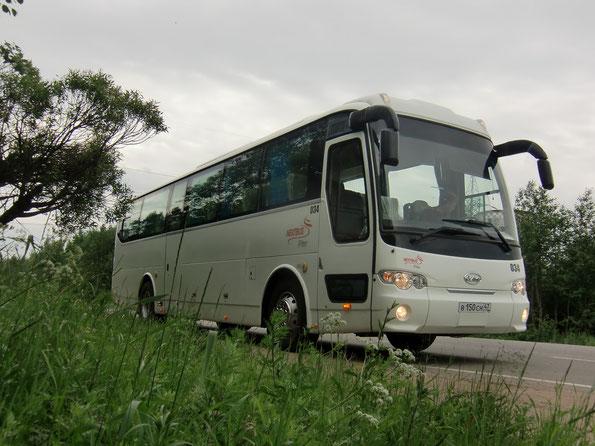 Междугородный автобус JAC HK6120 (6B96H). Санкт-Петербург. 23.06.2011